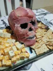 Flayed skin skull